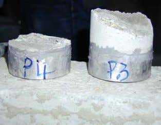 strength = 12psi (0.4MPa) - FAIL • Result 4: fracture at surface material, bond strength =