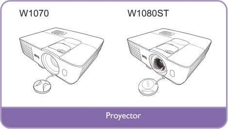 W1070 W1080ST Proyector