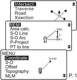 Intersect. Traverse Road Xsection REM Area calc. S-O Line S-O Arc P-Project PT to line