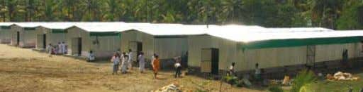 from India and abroad, helped with the relief work. Temporary shelters in Kerala AMMA'S PlEDGE In