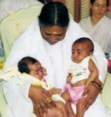 Amma with twins Eknath and Amrita Kripa MEDICAl HElP fOR BEREAVED MOTHERS Some of the