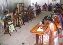 and handicrafts. embracing the world | D ISASTER RElIEf Women training to become tailors in Kerala