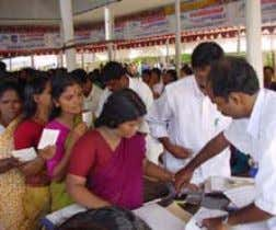 to to 5,000 families. Distribution of monthly pensions Amma blessing seeds for distribution to poor families