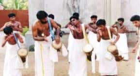 from Amrita Niketan orphanage with Amma at Amritapuri Orphanage children perform panchavadyam At Amrita Niketan,