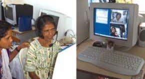 the 2008 Bihar flood and the 2009 West Bengal cyclone. A patient receiving a consultation via