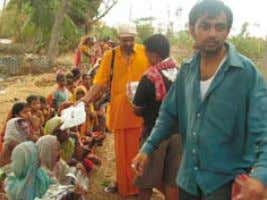 1 4 14 Andhra Pradesh flood victims receiving medicines West Bengal cyclone refugees receive clothing Tutoring