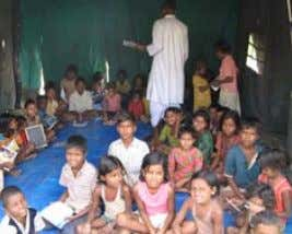 medicines West Bengal cyclone refugees receive clothing Tutoring session at a flood refugee camp in Bihar