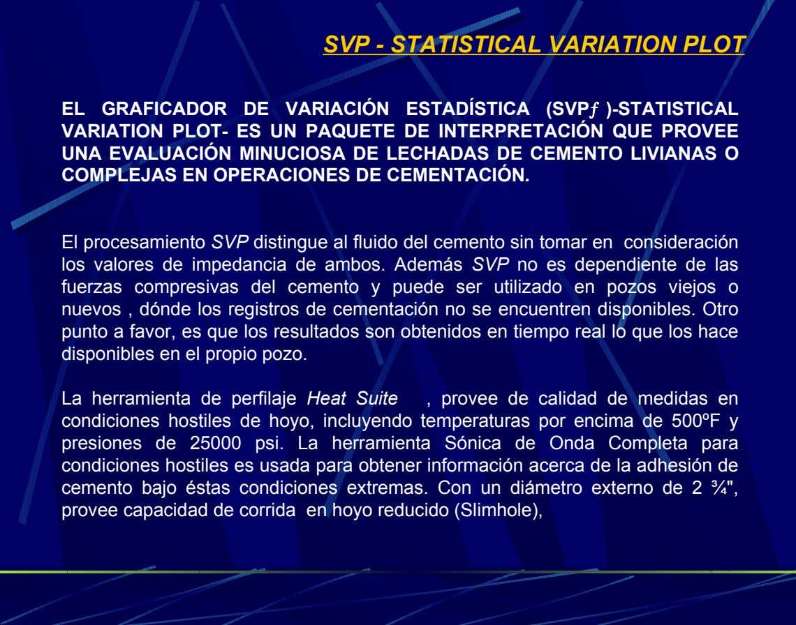 SVP - STATISTICAL VARIATION PLOT EL GRAFICADOR DE VARIACIÓN ESTADÍSTICA (SVPƒ )-STATISTICAL VARIATION PLOT-