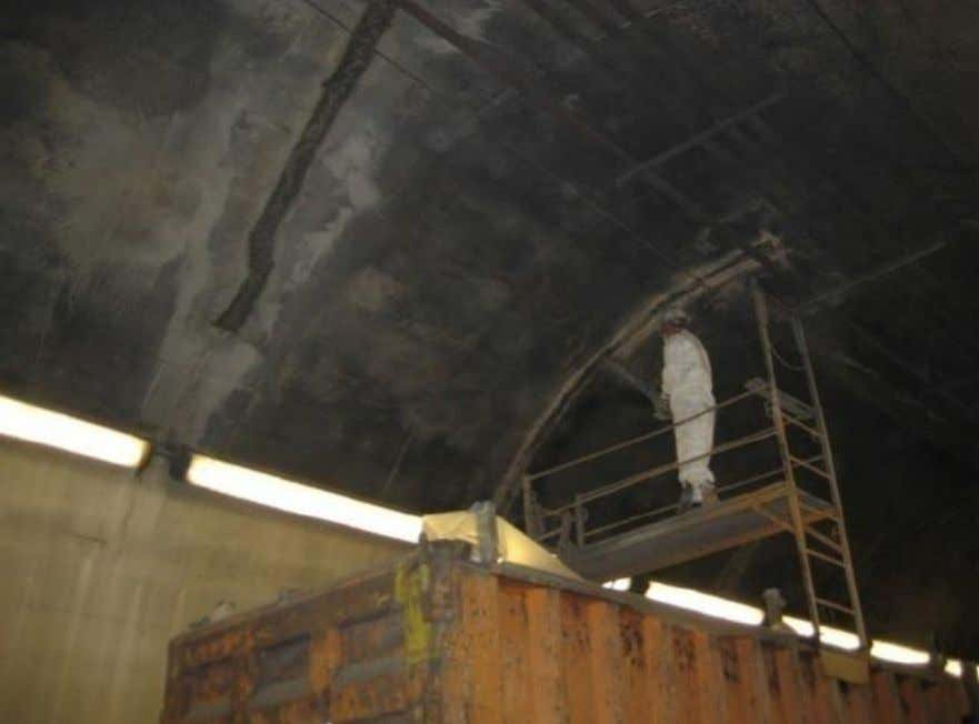 Using Shotcrete to Make Overhead Ceiling Repairs in Liberty Tunnel-Pittsburgh, PA (NCHRP, 2010) Reinforcing Steel for