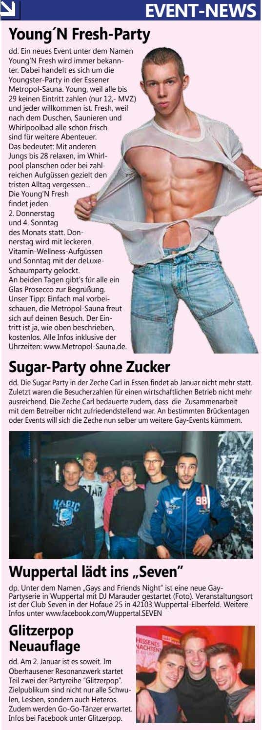EVENT-NEWS Young´N Fresh-Party dd. Ein neues Event unter dem Namen Young'N Fresh wird immer bekann-