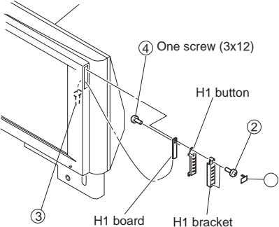 4 One screw (3x12) H1 button 2 1 3 H1 board H1 bracket