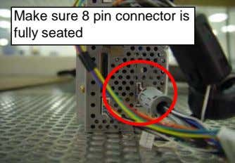 Make sure 8 pin connector is fully seated