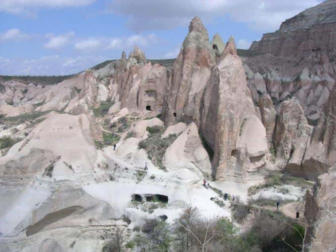 Cappadocia, Turkey: among earliest cities built on volcanic rocks