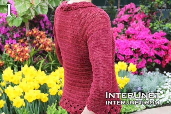 How to crochet triple stitch cardigan | Page 2 | interunet Part 1 in the video