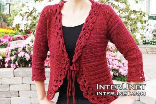 How to crochet triple stitch cardigan | Page 2 | interunet You can wear the cardigan