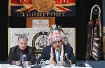 FIRST NATIONS STRATEGIC BULLETIN Page 8 L to R: Robert Hladun, legal counsel and Onion Lake