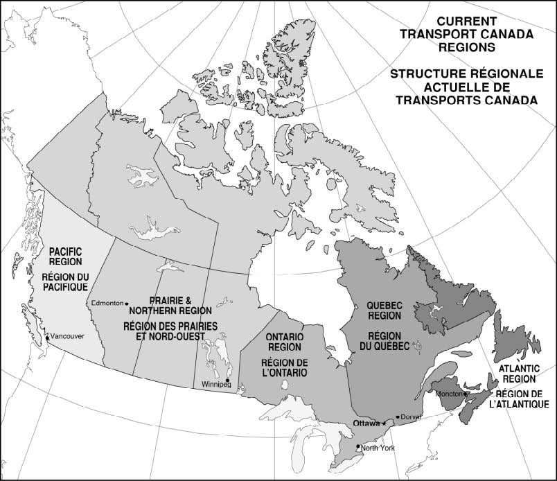 for the selection and Figure 1 TRANSPORT CANADA REGIONS H ANDBOOK FOR C IVIL A VIATION