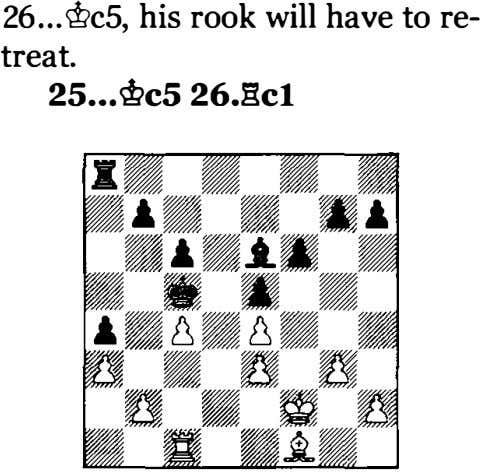 26 his rook wiH have to re­ treat. 2S ... @cS 26.gc1