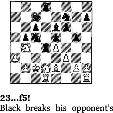 23 •.• f5! Black breaks his opponent's