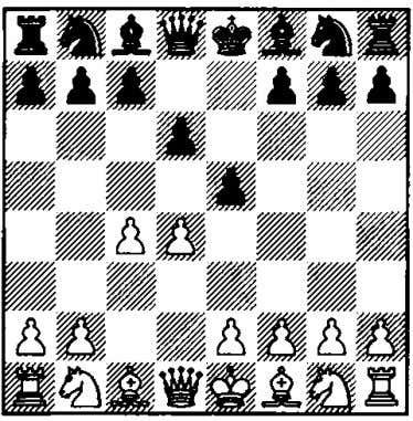 The move 2 . .. eS is really very direct, since Black forces his opponent to