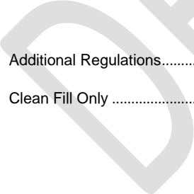 Additional Regulations Clean Fill Only