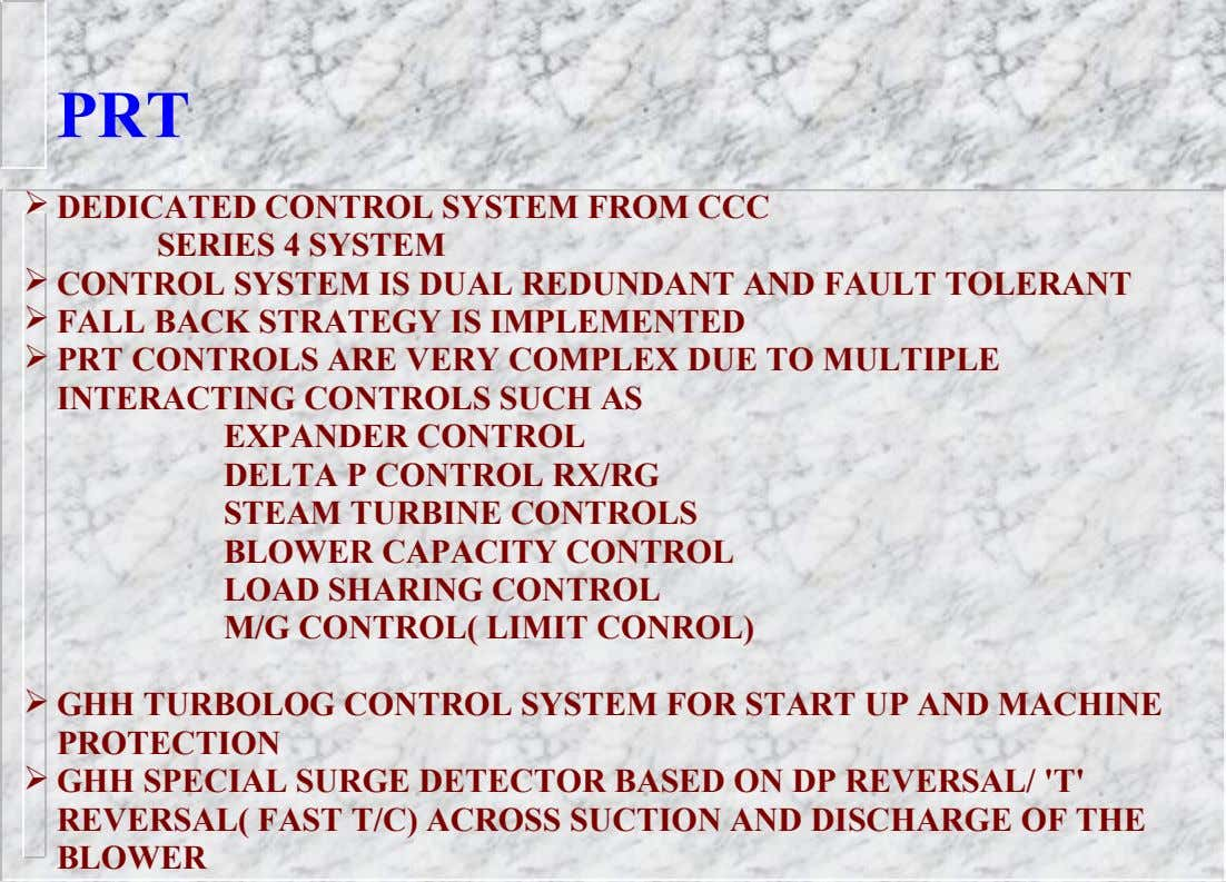 PRT  DEDICATED CONTROL SYSTEM FROM CCC SERIES 4 SYSTEM  CONTROL SYSTEM IS DUAL REDUNDANT