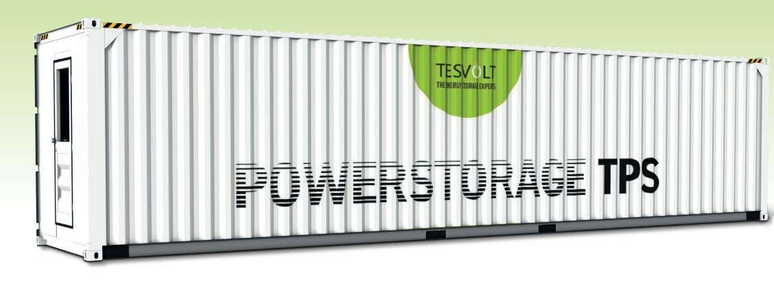 POWER STORAGE The all-rounder for grid networks and industry Built to last 30 years ∙ 1C