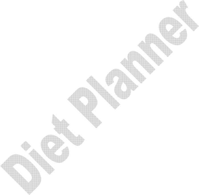 Manuale utente Diet Planner pag.4