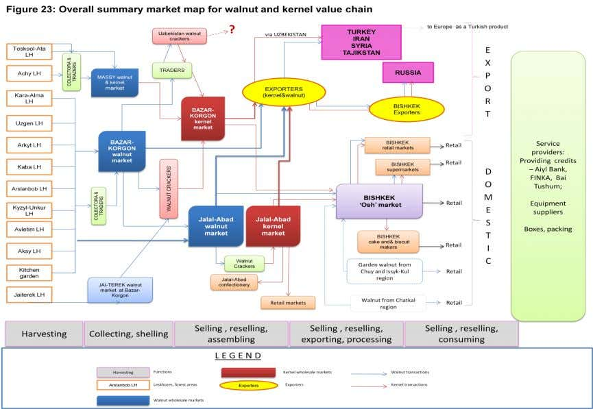 Figure 23: Overall summary market map for walnut and kernel value chain 50