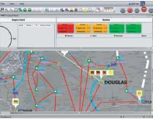 in analyzing experiment impacts on the bulk power system Visualization of the network with Alstom's e-terravision