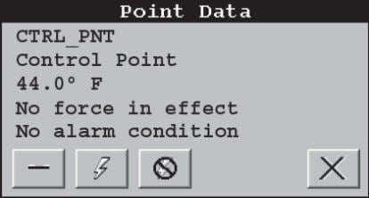 a30-4471 Fig. 3 — Point Data Dialog Box a30-4472 Fig. 4 — Main Menu Display