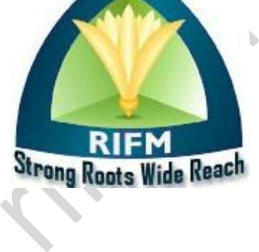 "Roots Institute of Financial Markets (RIFM) ""Every effort has been made to avoid any errors or"
