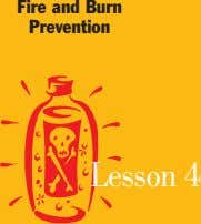 Fire and Burn Prevention Lesson 4