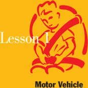 Lesson 1 Motor Vehicle