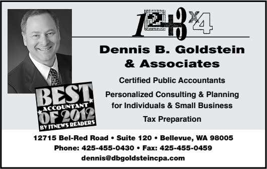 Dennis B. Goldstein & Associates Certified Public Accountants Personalized Consulting & Planning for