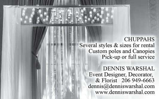 www.DistinctiveDesignFlorist.com Contact for all inquiries and a complimentary consultation SPECIAL ADvERtORIAL SECtION
