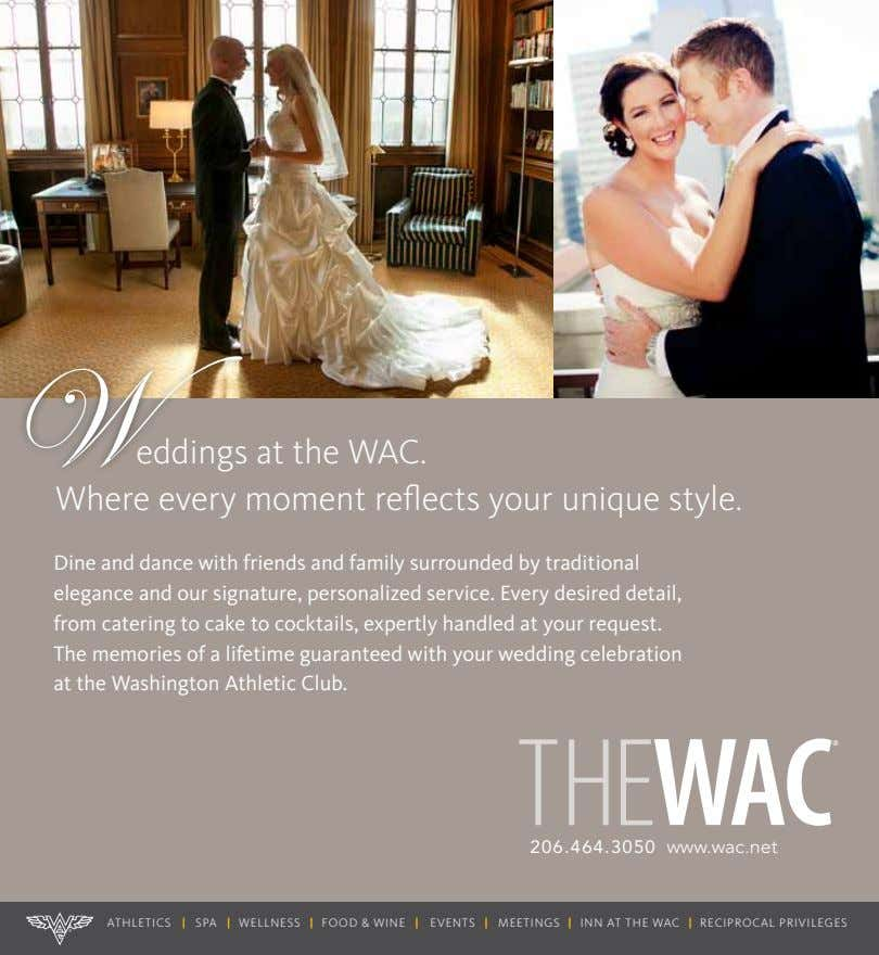 W at the WAC. Where every moment reflects your unique style. Dine and dance with