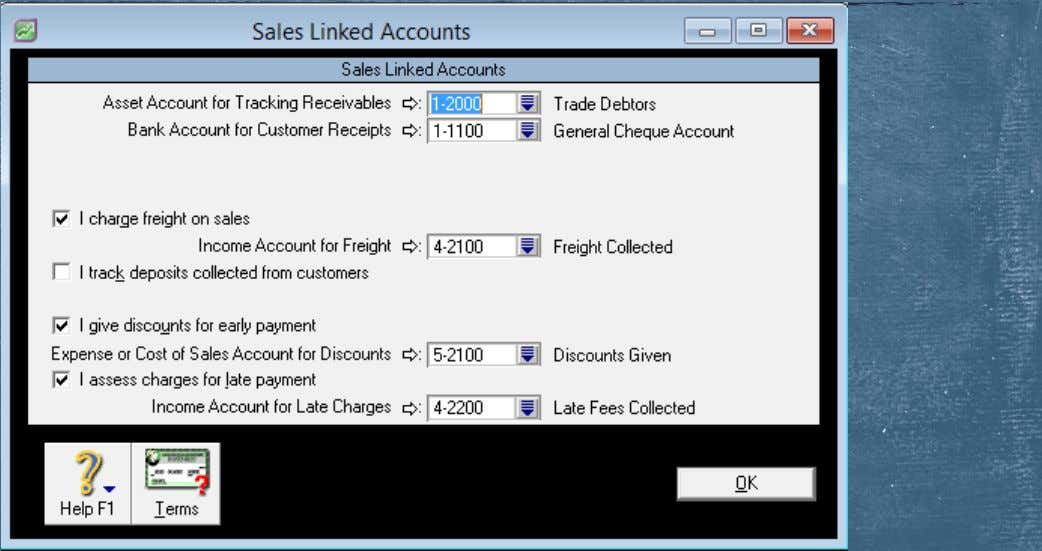 Linked Account—Sales Linked Accounts