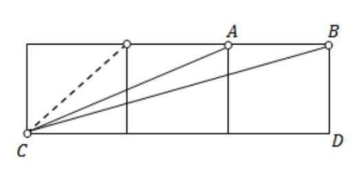 is the sum of measures of angles ∠ ACD and ∠ BCD ? (a) (b) (c)