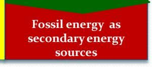 Fossil energy as secondary energy sources