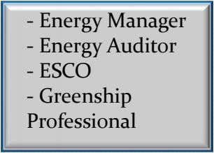 - Energy Manager - Energy Auditor - ESCO - Greenship Professional