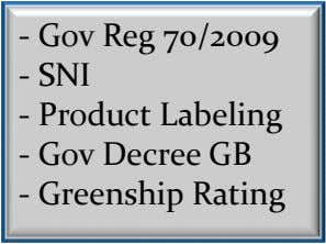 - Gov Reg 70/2009 - SNI - Product Labeling - Gov Decree GB - Greenship