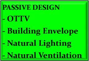 PASSIVE DESIGN - OTTV - Building Envelope - Natural Lighting - Natural Ventilation