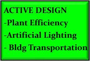 ACTIVE DESIGN -Plant Efficiency -Artificial Lighting - Bldg Transportation