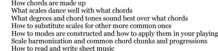 How chords are made up What scales dance well with what chords What degrees and