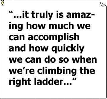 """ it truly is amaz- ing how much we can accomplish and how quickly we"