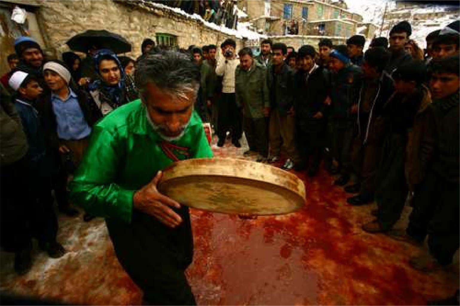 BLOODBATH FOR SEASONNAL REBIRTH VOW About sixty sheeps & beefs are slaughtered in the occasion