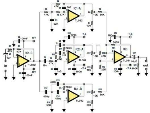 audio the it channels will have different audio responses. Figure 1. The electronic schematic of the