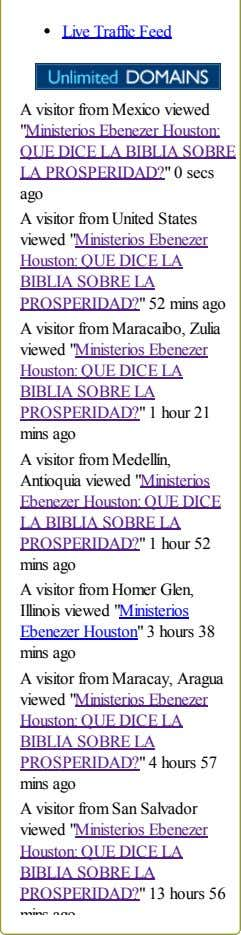 "Live Traffic Feed A visitor from Mexico viewed ""Ministerios Ebenezer Houston: QUE DICE LA BIBLIA"