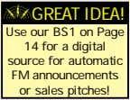 GREAT IDEA! Use our BS1 on Page 14 for a digital source for automatic FM